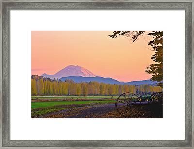 Mt Rainier From The Redmond Valley Framed Print