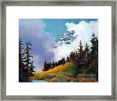 Mt. Rainier In Clouds Framed Print