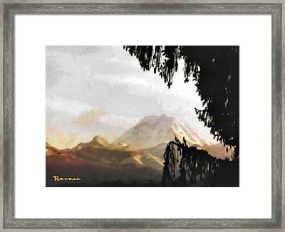 Framed Print featuring the photograph Mt. Rainier In Lace by Sadie Reneau