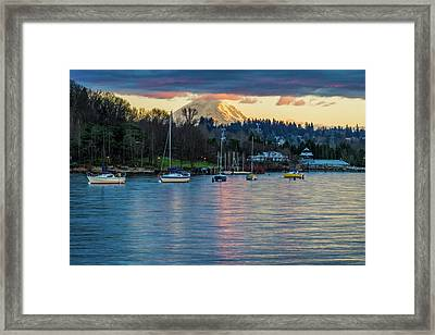 Mt Rainier In View Framed Print
