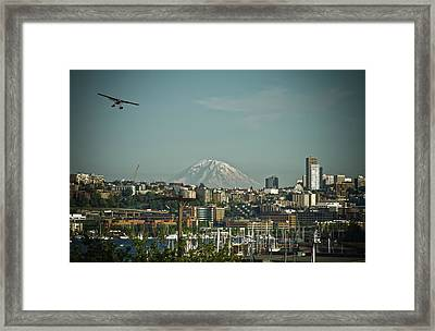 Mt Rainier Is Out Framed Print