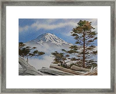 Mt. Rainier Landscape Framed Print