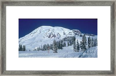Framed Print featuring the photograph Mt. Rainier by Larry Keahey
