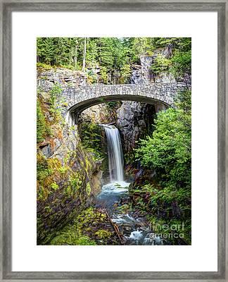 Mt Rainier National Park, Christine Falls Framed Print