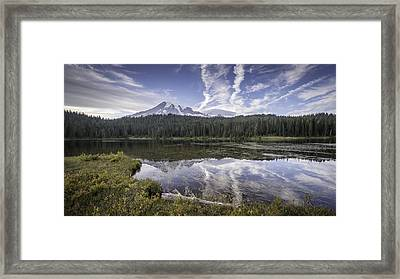 Mt. Rainier Reflection Framed Print