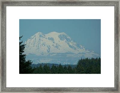 Mt Rainier Washington Framed Print by Laurie Kidd