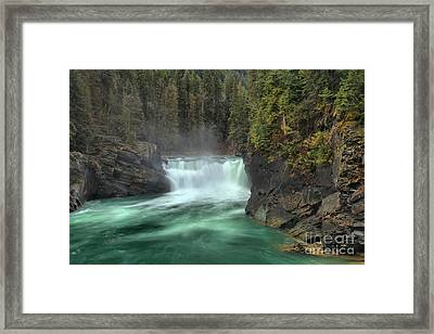Mt Robson Overlander Falls Framed Print