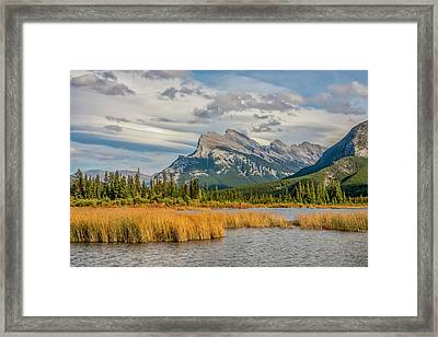 Framed Print featuring the photograph Mt. Rundle 2009 05 by Jim Dollar