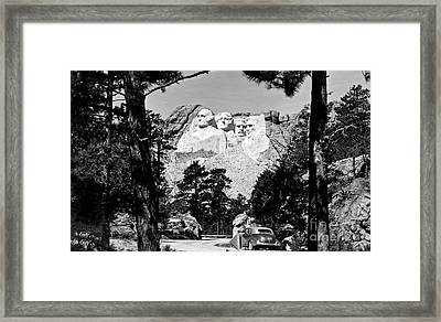 Mt Rushmore Framed Print by American School