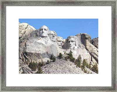 Mt Rushmore  Framed Print by Angie Vogel