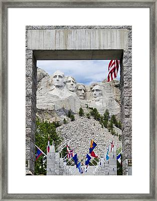 Mt Rushmore Entrance Framed Print by Jon Berghoff