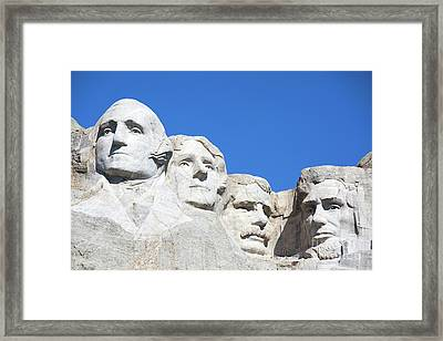 Mt. Rushmore Framed Print
