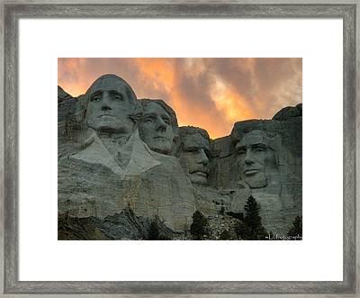 Mt. Rushmore Framed Print