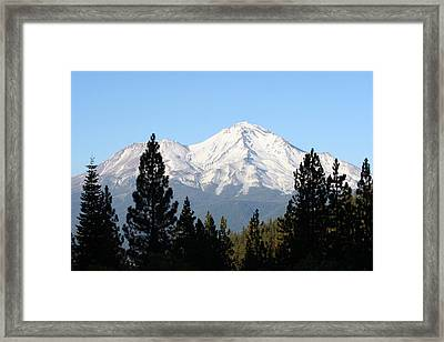 Mt. Shasta - Her Majesty Framed Print