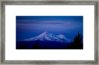Mt Shasta At Sunrise Framed Print