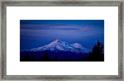 Mt Shasta At Sunrise Framed Print