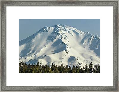 Framed Print featuring the photograph Mt Shasta In Early Morning Light by Marc Crumpler