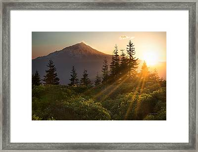 Mt. Shasta Framed Print by Leland D Howard