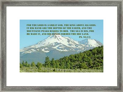 Mt. Shasta Ps.95 V 3-5 Framed Print by Linda Phelps