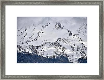 Mt Shasta Up Close Framed Print
