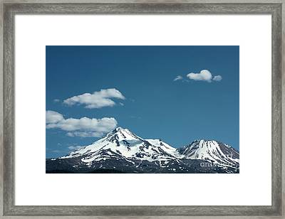Mt Shasta With Heart-shaped Cloud Framed Print by Carol Groenen