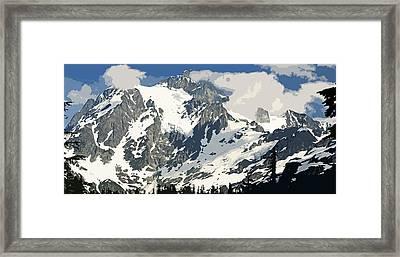 Mt. Shucksan Framed Print by Larry Darnell