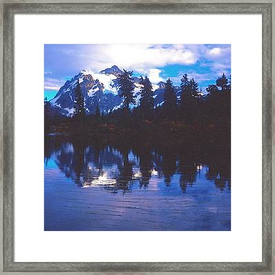 Mt. Shuksan - Picture Lake Framed Print