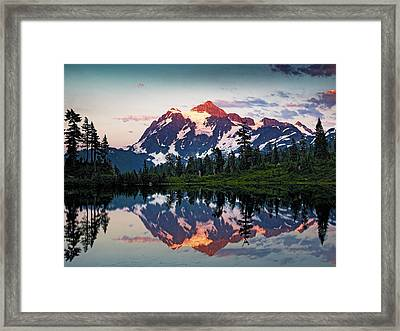 Mt. Shuksan Washington Northern Cascades Framed Print by Brendan Reals
