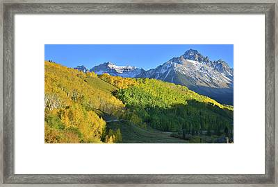 Framed Print featuring the photograph Mt. Sneffels From County Road 7 by Ray Mathis