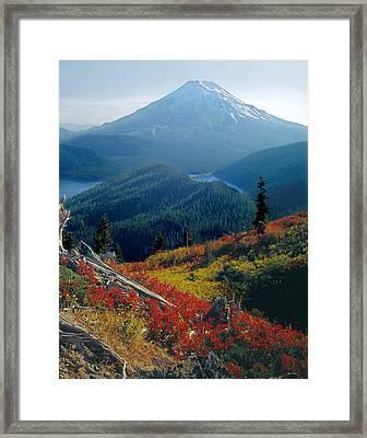 1m4903-mt. St. Helens 1975  Framed Print