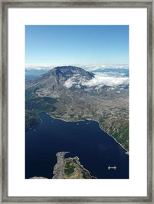 Mt. St. Helens Aerial 2225 Framed Print by David Mosby