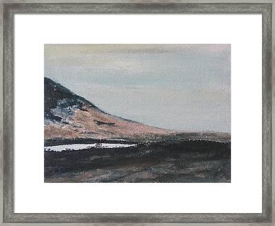 Mt St Joseph Slope In Winter Notre Dame Des Bois Quebec Canada Framed Print
