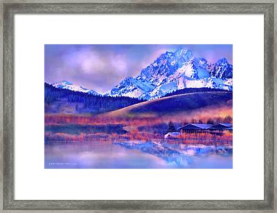 Mt. Stuart Framed Print by Kari Nanstad