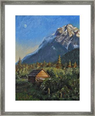 Mt. Stupendous Sunset Framed Print by Tahirih Goffic