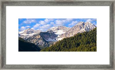 Mt. Timpanogos In The Wasatch Mountains Of Utah Framed Print
