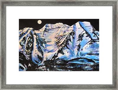 Mt. Timpanogos Under A Full Moon Framed Print