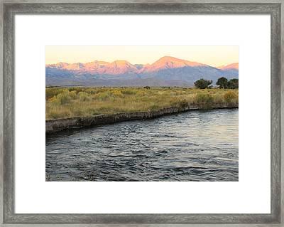 Mt Tom Sunrise Framed Print