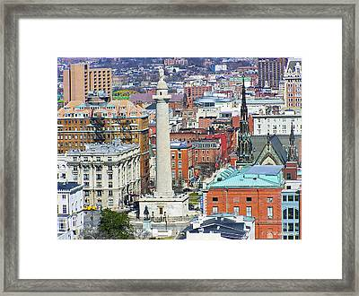 Mt Vernon - Baltimore Framed Print by Brian Wallace