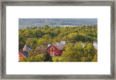 Mt View Farm In Summer Framed Print