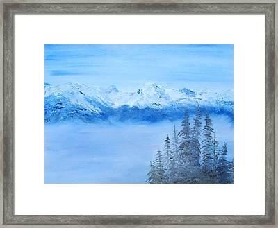 Mt. Whistler Canada  Framed Print by Tina Haeger