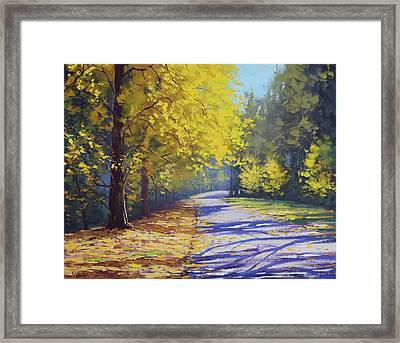 Mt Wilson Gold Framed Print