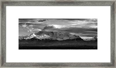 Mt Wrangell Framed Print by Ed Boudreau