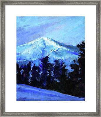 Mt. Bachelor Snow Framed Print by Nancy Merkle