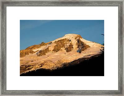 Mt.baker At Sunset  Framed Print