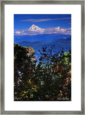 Mt.hood N Fall Framed Print