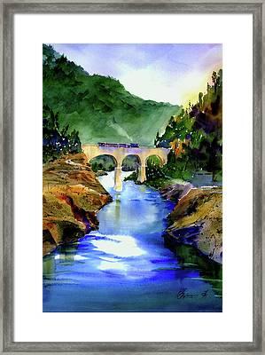 Mtn Quarries Rr Bridge Framed Print