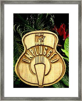 Mtv Unplugged Framed Print by Calixto Gonzalez