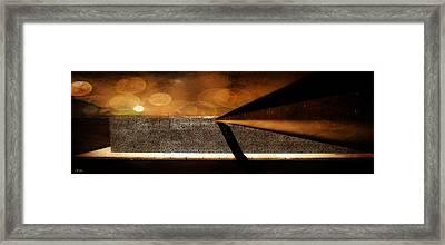 Mucem,panoramic,bokeh Framed Print