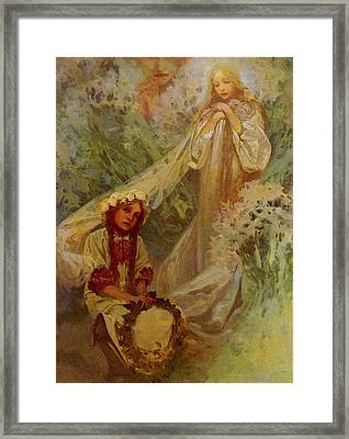 Mucha Alphonse Maria Madonna Of The Lilies Framed Print