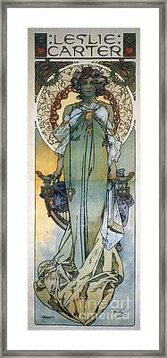Mucha: Theatrical Poster Framed Print by Granger